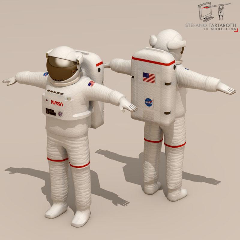 astronaut 3d model 3ds dxf fbx c4d obj 142111