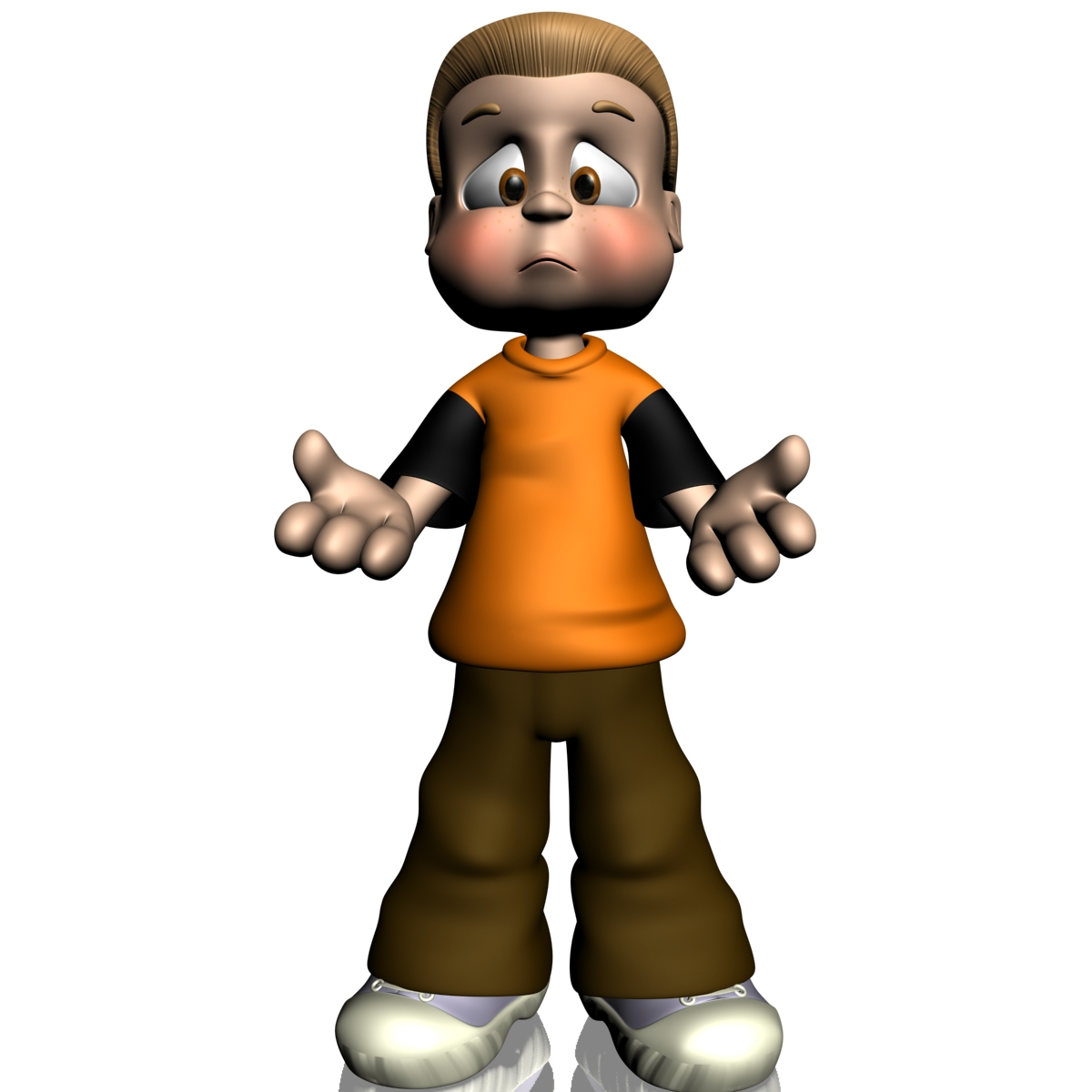 Cartoon Characters 3d Model : Cartoon boy rigged d model buy