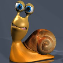Cartoon Snail Rigged ( 601.39KB jpg by supercigale )
