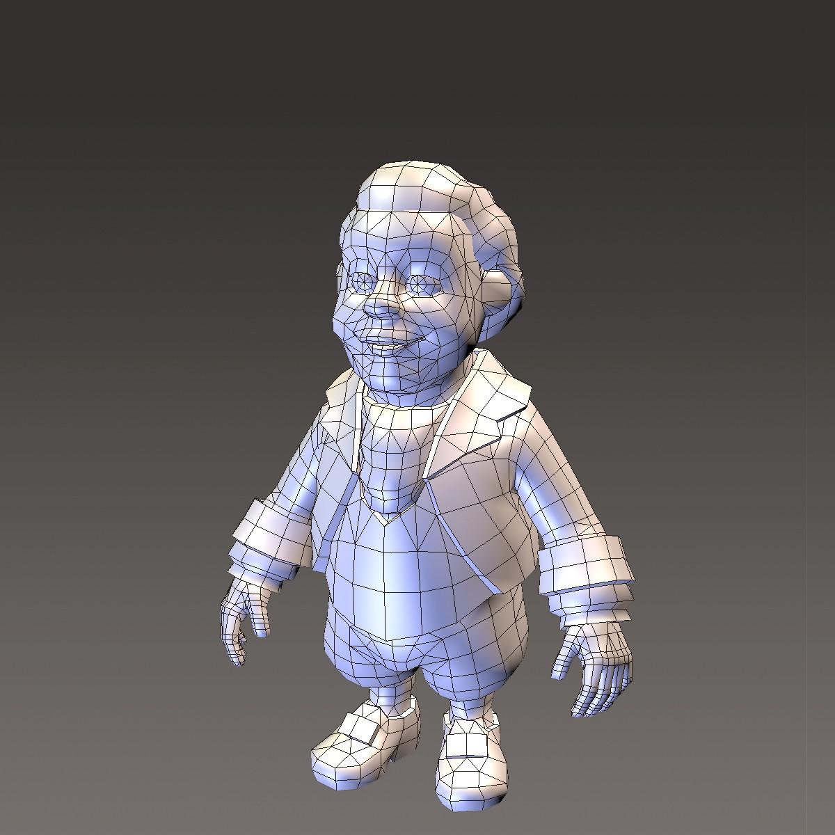 хүүхэлдэйн киноны иргэний эрэгтэй 3d загвар max fbx ma mb 157275