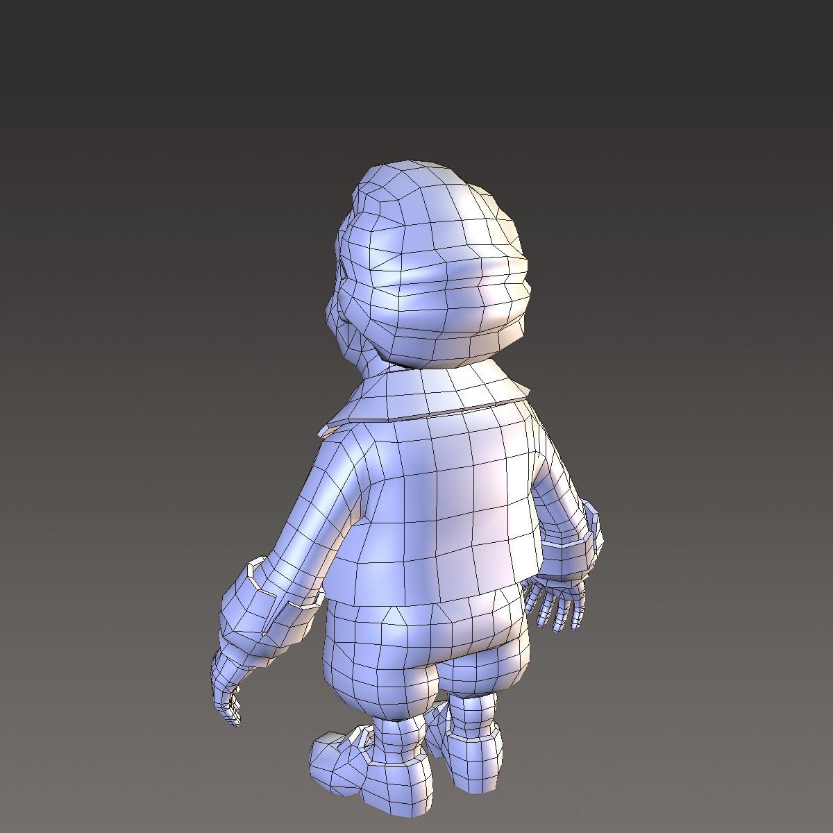 хүүхэлдэйн киноны иргэний эрэгтэй 3d загвар max fbx ma mb 157277