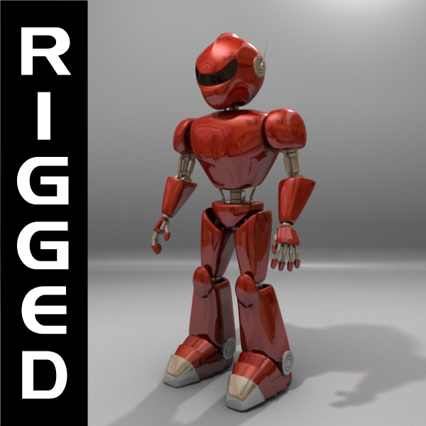 osvajač robot rigged 3d model 3ds max fbx blend obj 119282