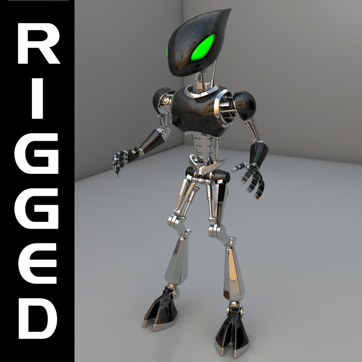 cpkb robot model 3d wedi'i rigio 3ds max fbx blend obj 119272