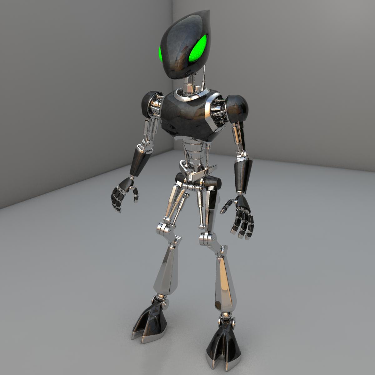 cpkb robot model 3d wedi'i rigio 3ds max fbx blend obj 119273