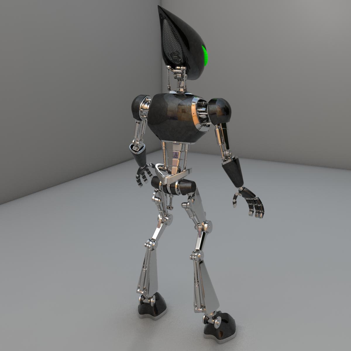cpkb robot model 3d wedi'i rigio 3ds max fbx blend obj 119274
