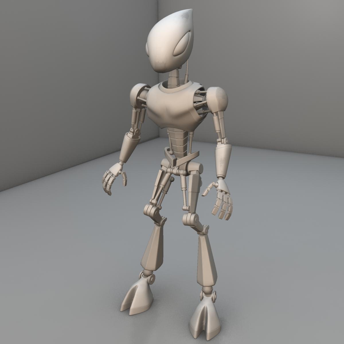 cpkb robot model 3d wedi'i rigio 3ds max fbx blend obj 119275
