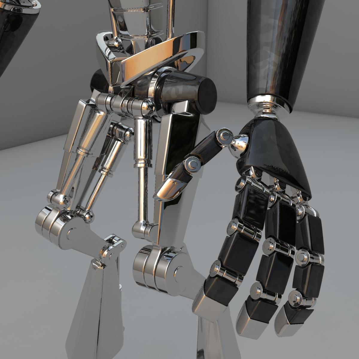 cpkb robot model 3d wedi'i rigio 3ds max fbx blend obj 119276