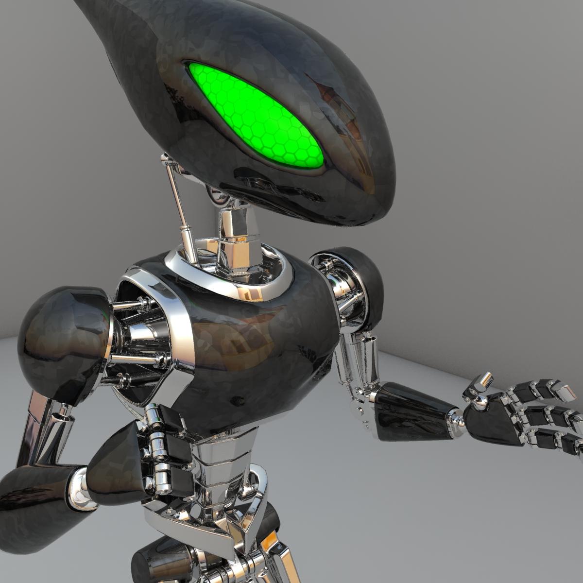 cpkb robot model 3d wedi'i rigio 3ds max fbx blend obj 119277