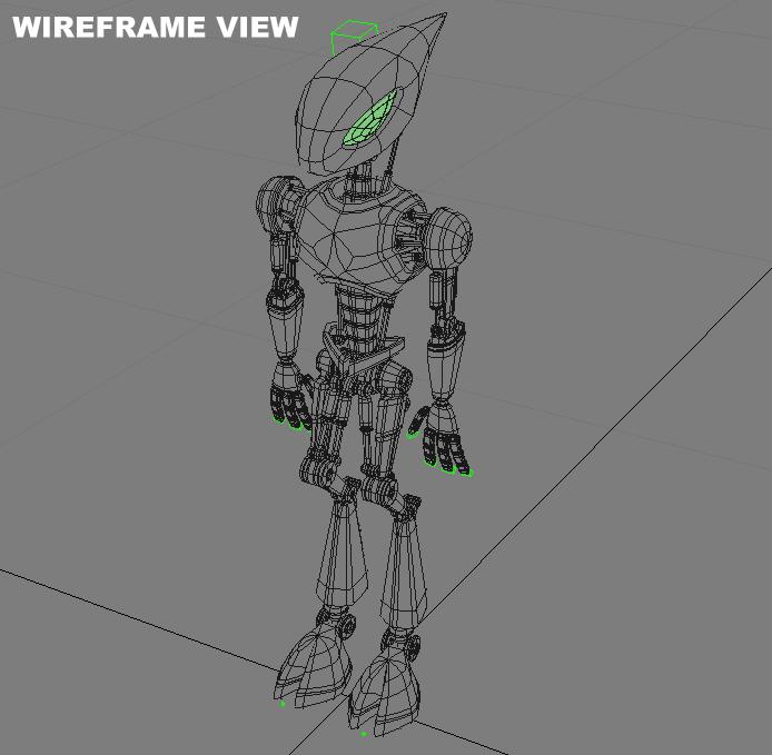 cpkb robot model 3d wedi'i rigio 3ds max fbx blend obj 119278