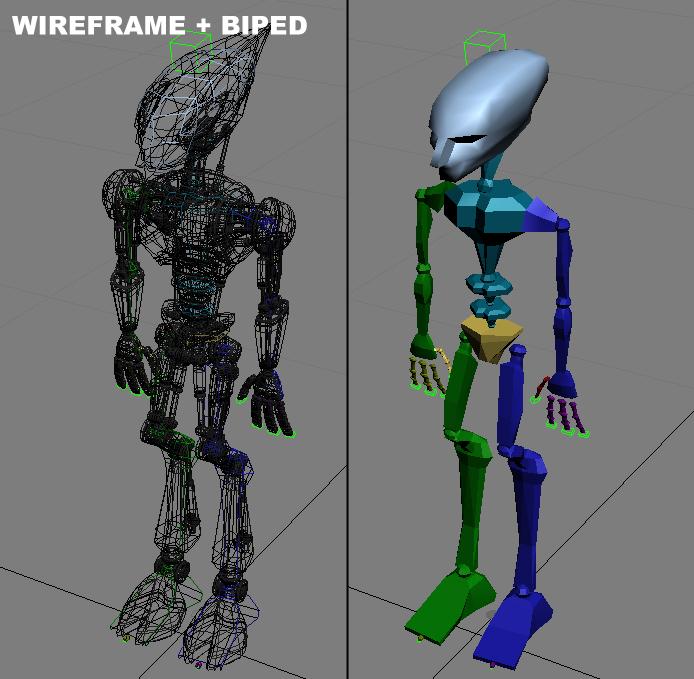 cpkb robot model 3d wedi'i rigio 3ds max fbx blend obj 119279