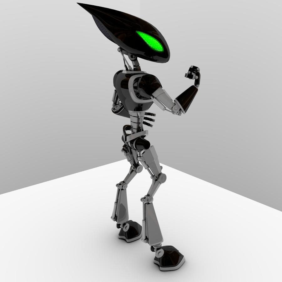 cpkb robot model 3d wedi'i rigio 3ds max fbx blend obj 119280