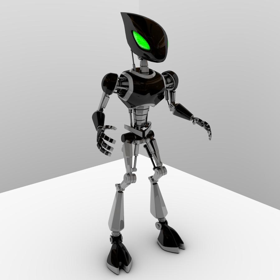 cpkb robot model 3d wedi'i rigio 3ds max fbx blend obj 119281