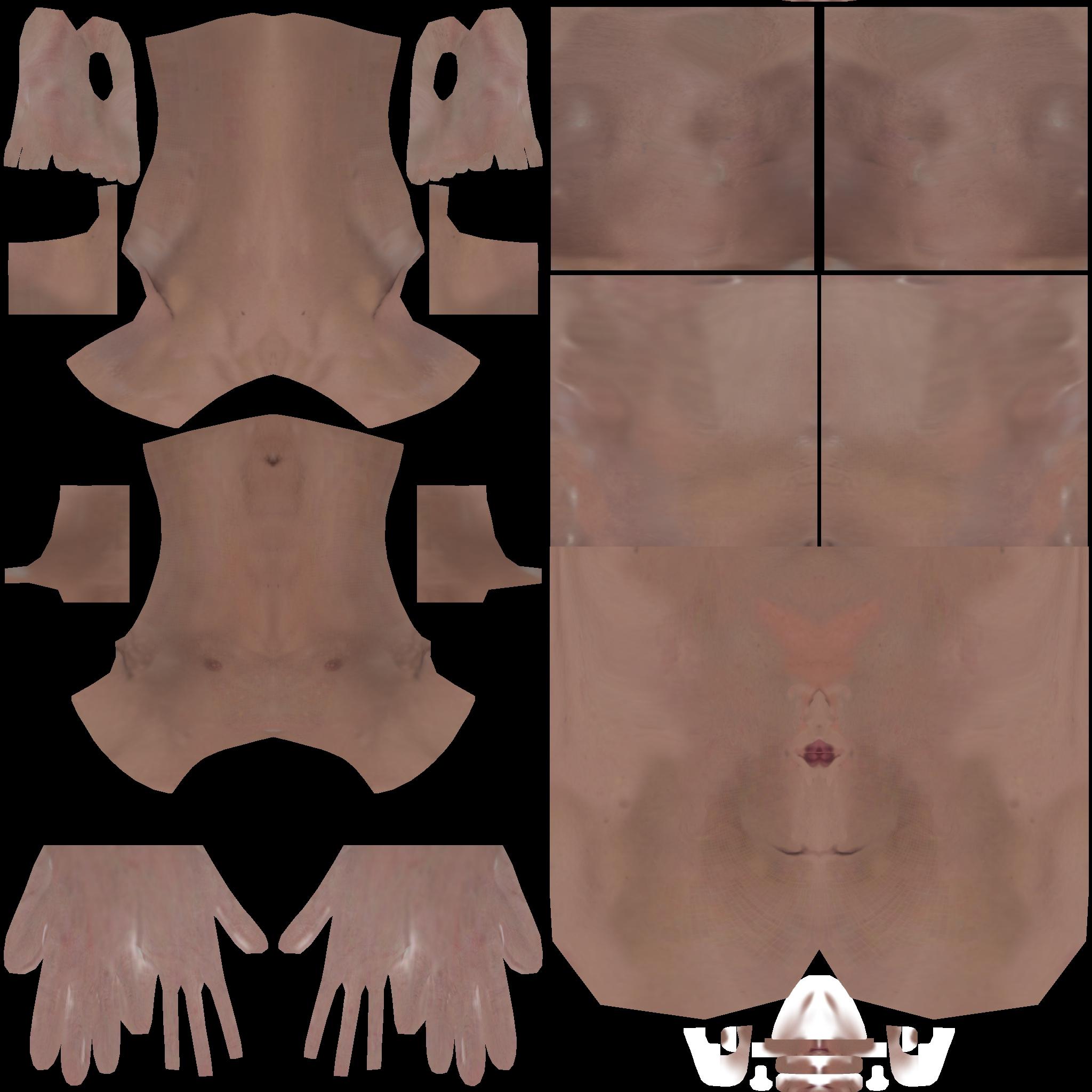 detaljan muški akt 3d model teksture obj ztl 141096