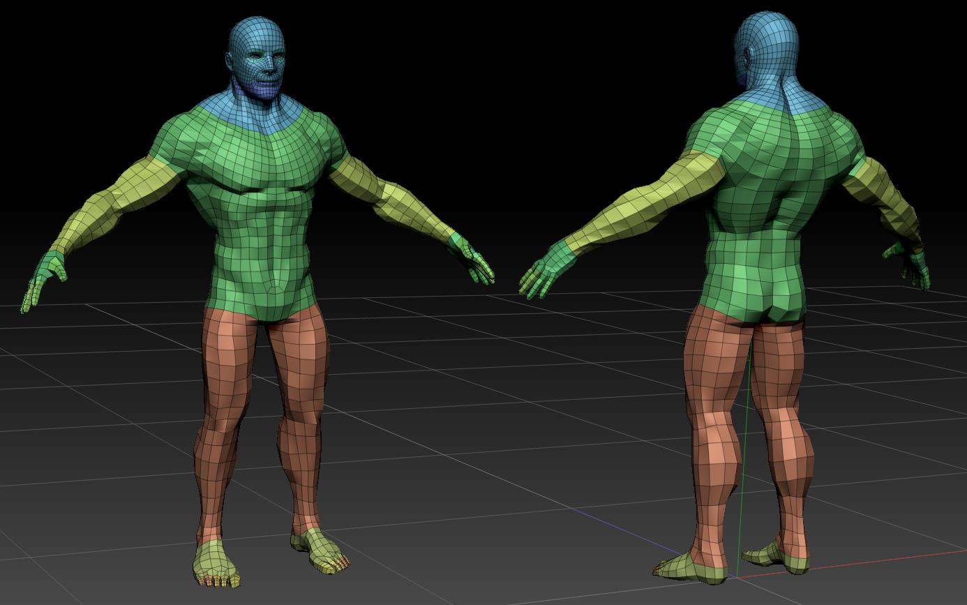detaljan muški akt 3d model teksture obj ztl 141099
