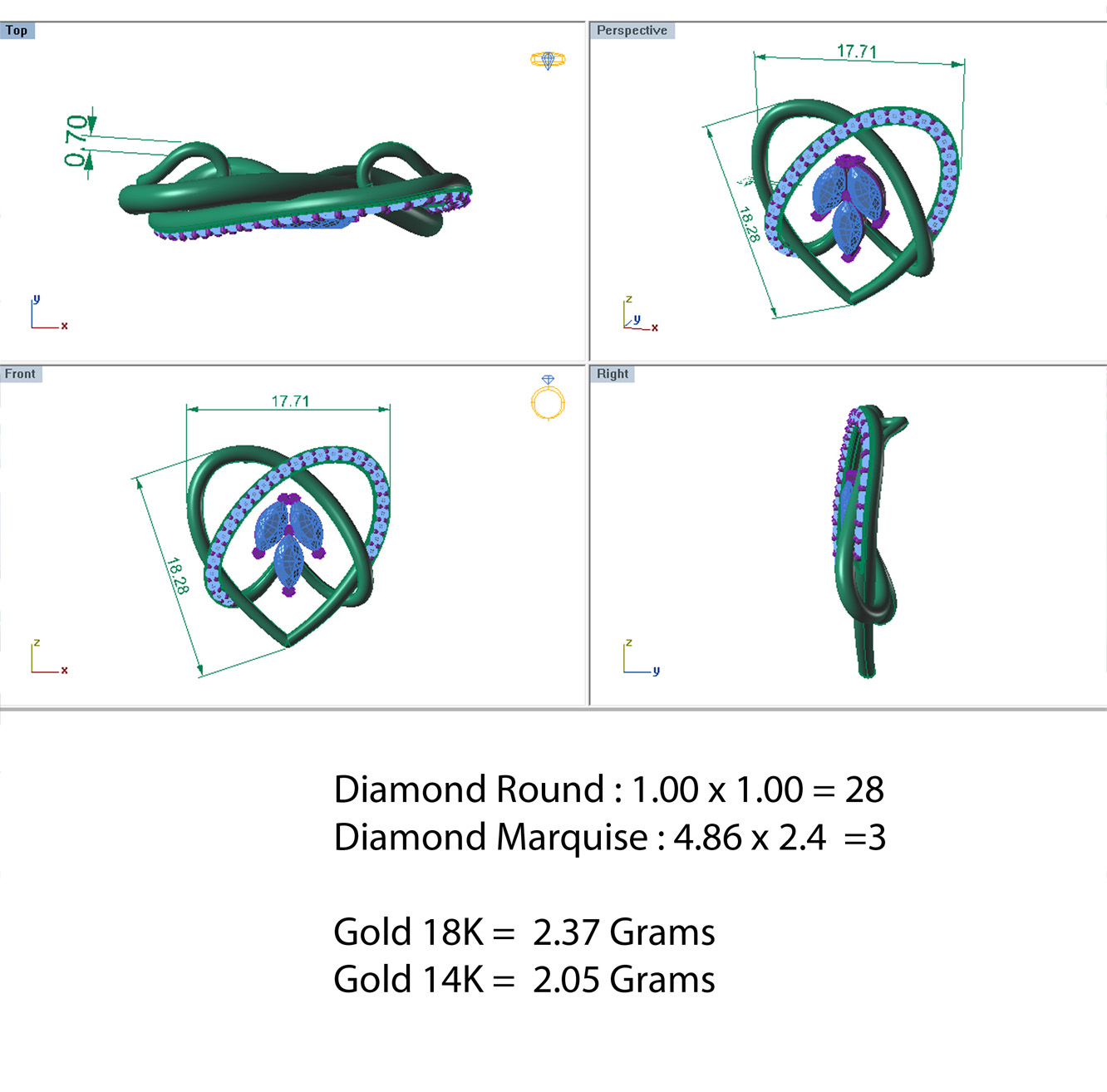 diamond pendant 002 3d model 3dm 156996