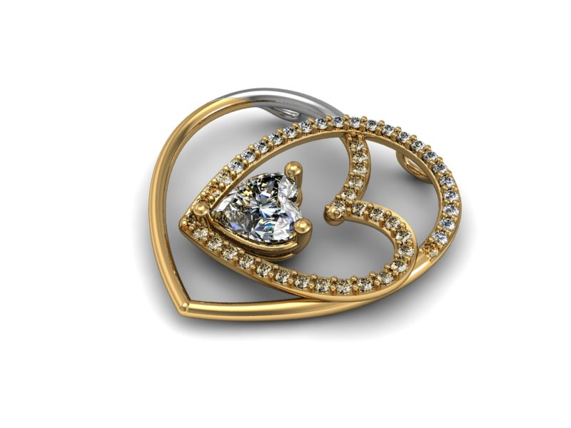 diamond pendant 003 3d model 3dm 156998