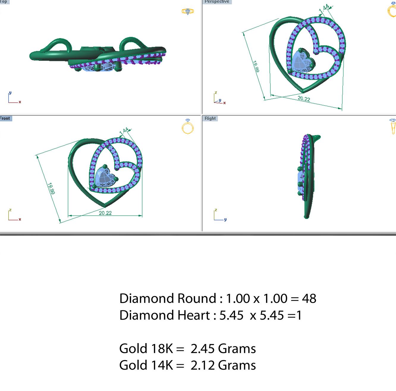 diamond pendant 003 3d model 3dm 156999