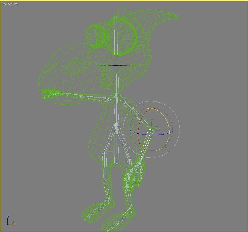 dinko alien character rigged 3d model 3ds max fbx lwo  obj 128927