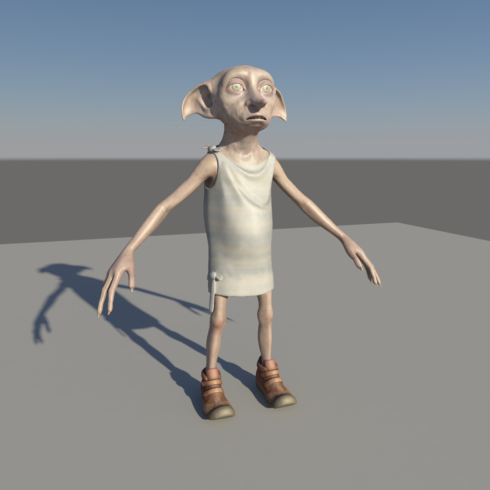 dobby 3d model le do thoil