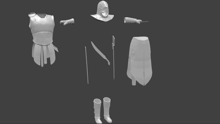 equipment and weapons 3d model blend 157797