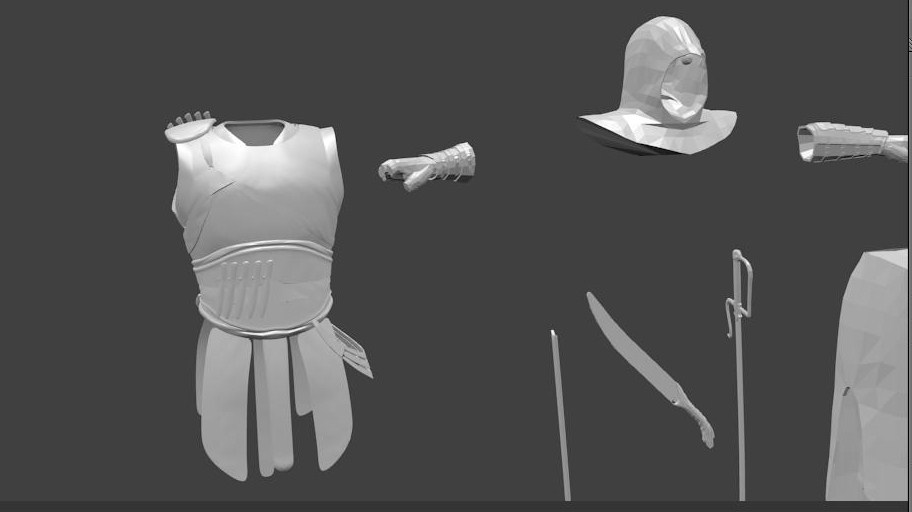 equipment and weapons 3d model blend 157798