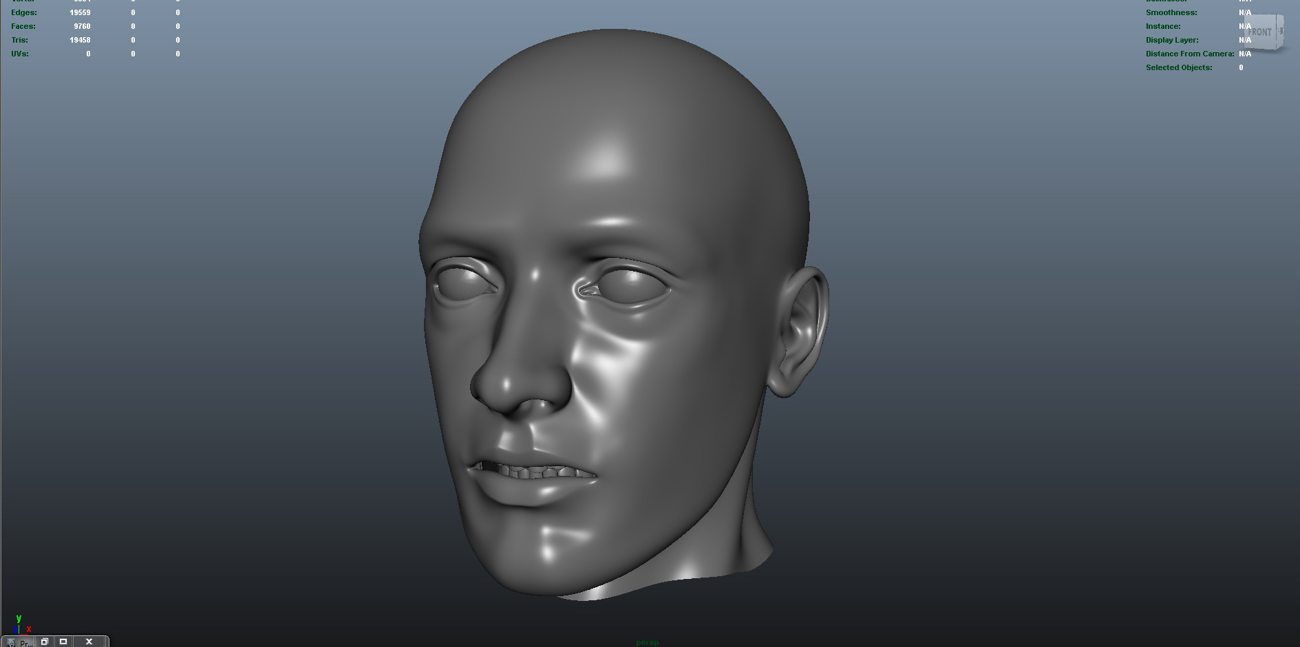 face 3d model fbx dae ma mb obj 153295