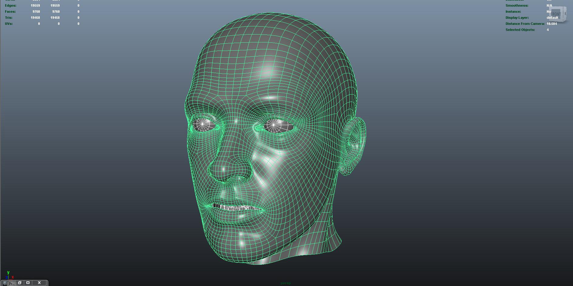face 3d model fbx dae ma mb obj 153296