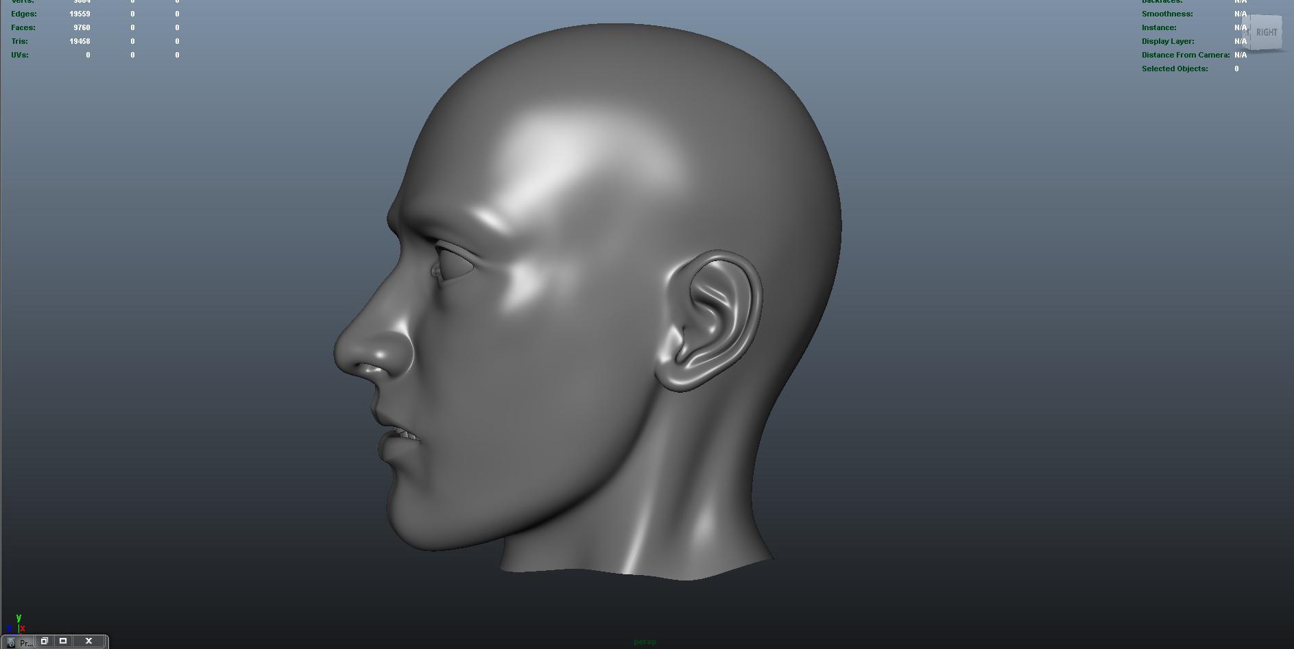 face 3d model fbx dae ma mb obj 153297
