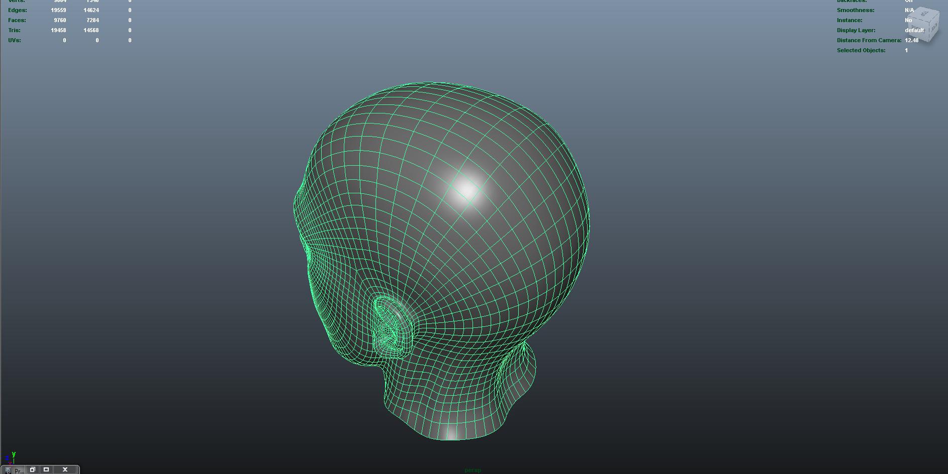 face 3d model fbx dae ma mb obj 153298