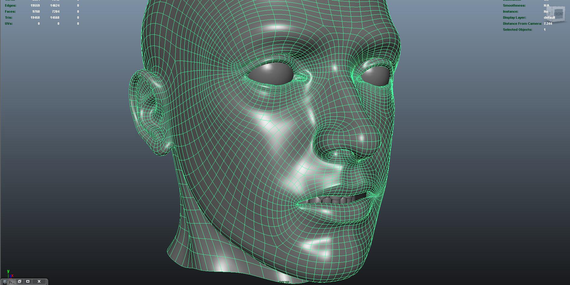 face 3d model fbx dae ma mb obj 153300