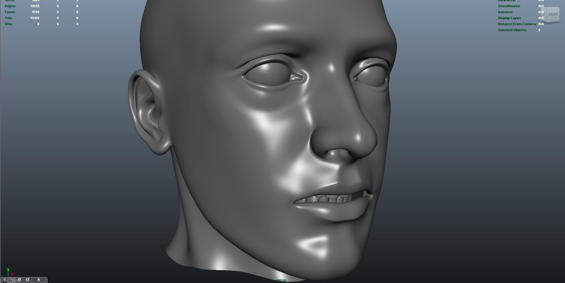 face 3d model fbx dae ma mb obj 153301