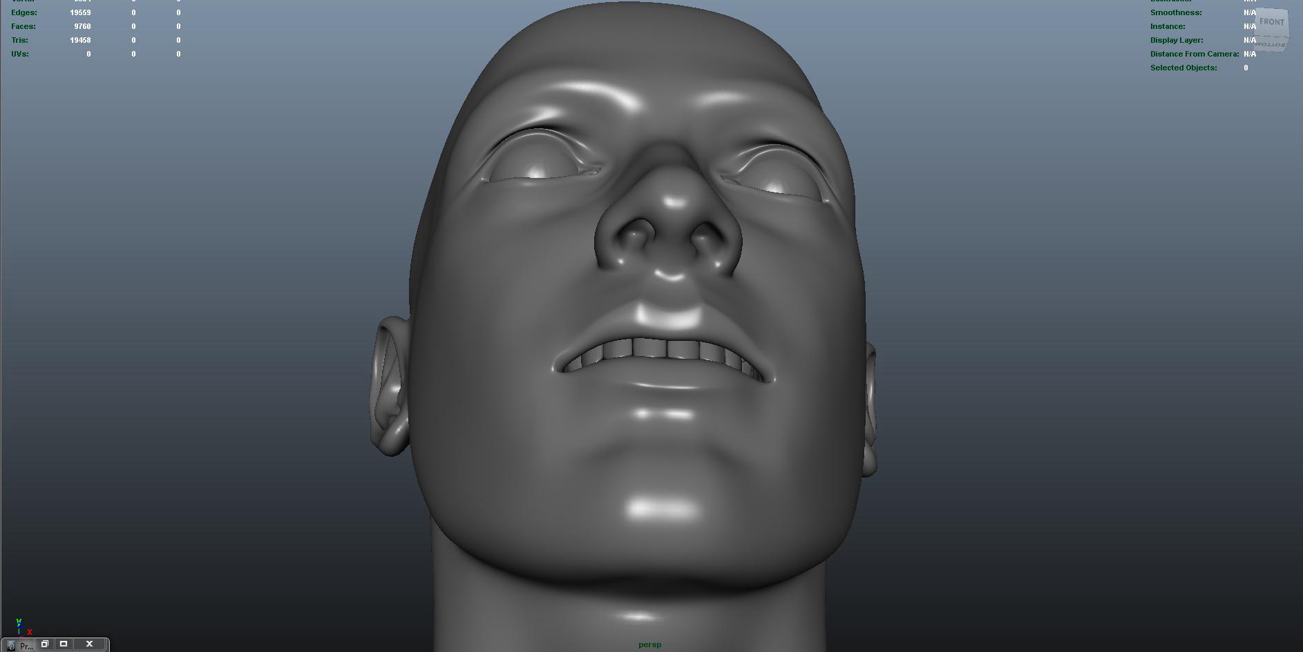 face 3d model fbx dae ma mb obj 153302