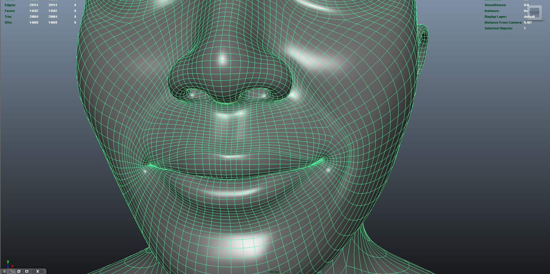 face 3d model fbx ma mb obj 153410