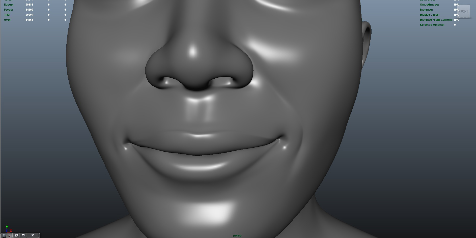 face 3d model fbx ma mb obj 153411