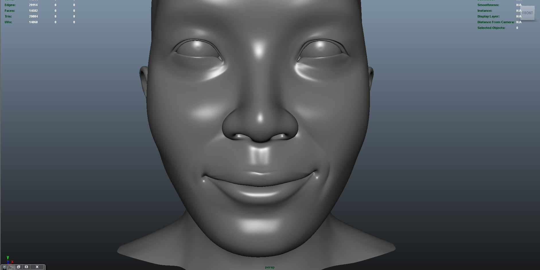face 3d model fbx ma mb obj 153416