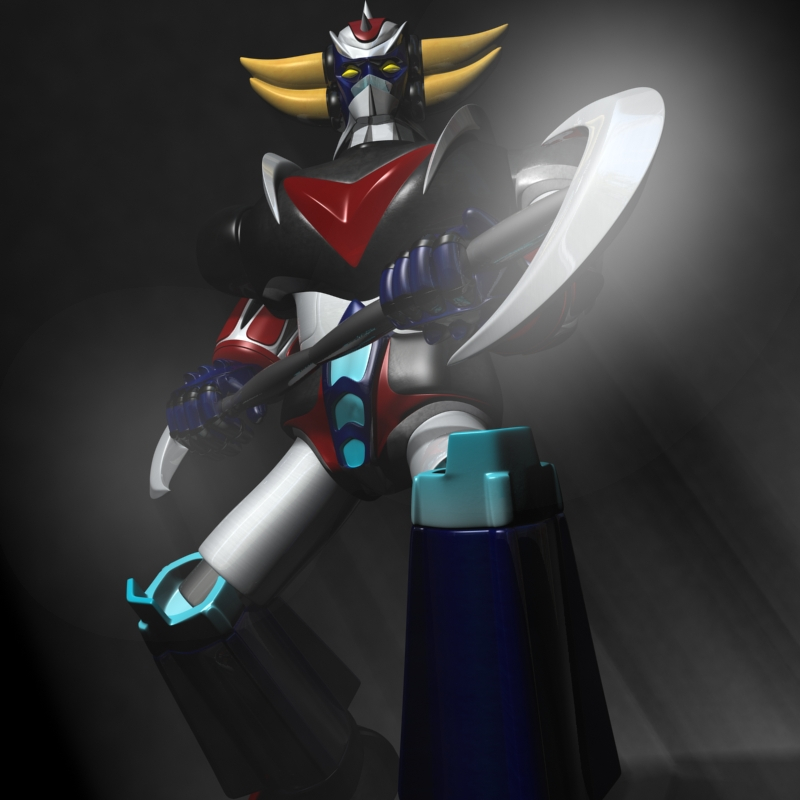 goldorak – grendizer rigged 3d model 3ds max fbx lwo obj 144815