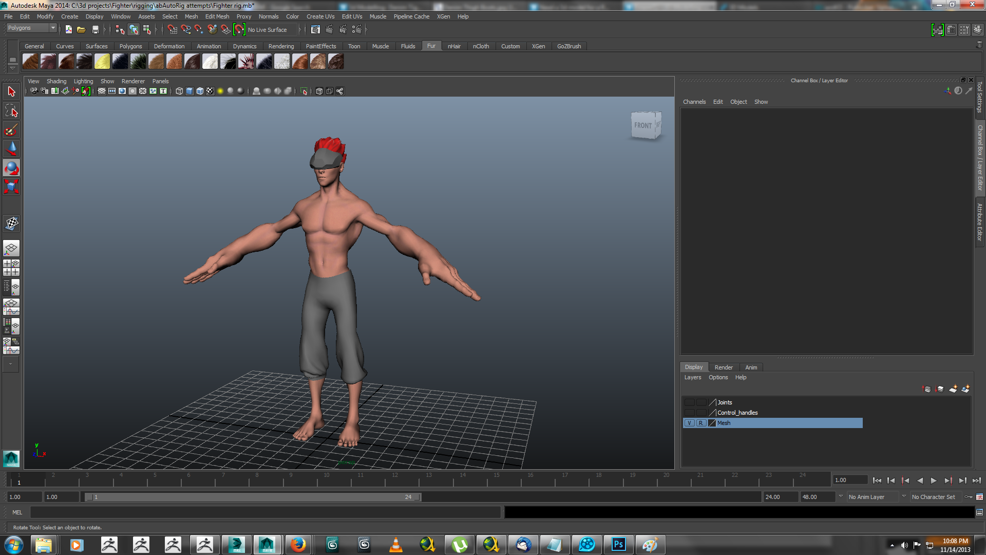 heavy hitter rigged 3d model ma mb 158417