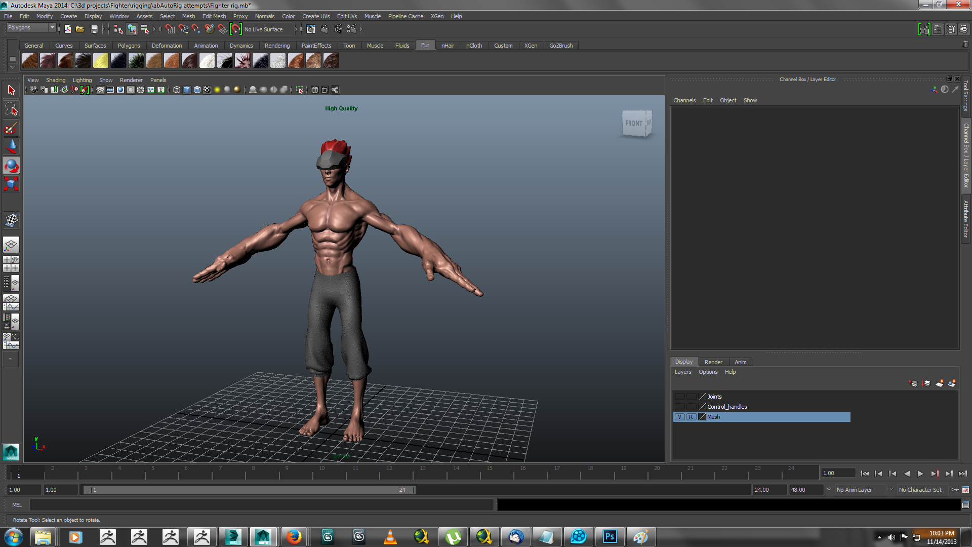 heavy hitter rigged 3d model ma mb 158420