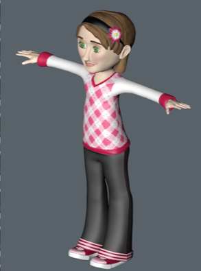 "low poly character ""mia"" for c4d prime 3d model c4d 161828"