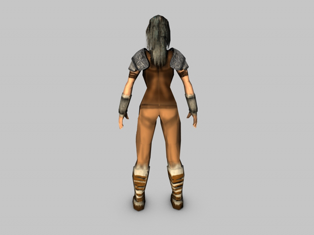 low poly female model warrior 3d model 3ds fbx c4d obj 142436