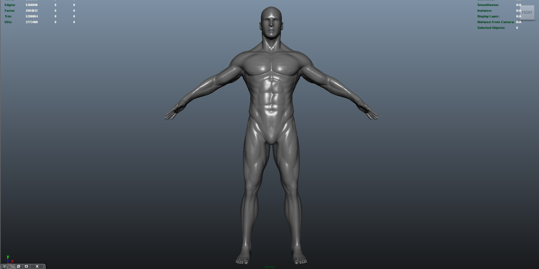 male 3d model ma mb obj 153417