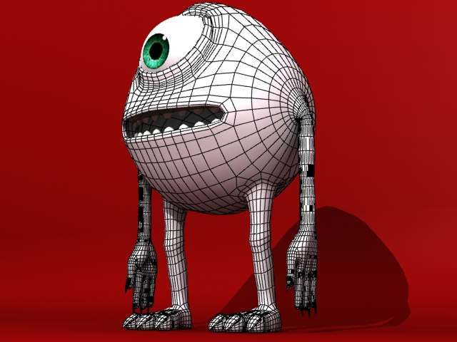 monster 3d model 3ds max fbx 153794