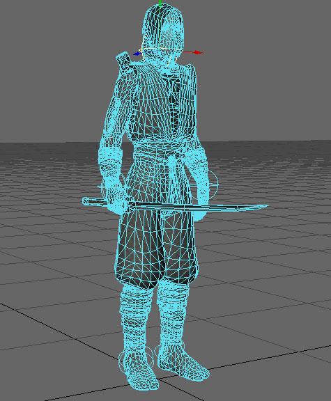 ninja rigged 3d model lwo 154677