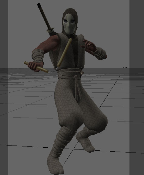 ninja rigged 3d model lwo 154678