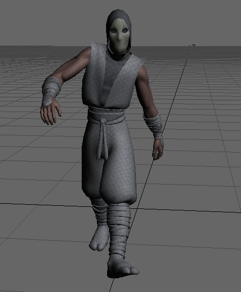 ninja rigged 3d model lwo 154679