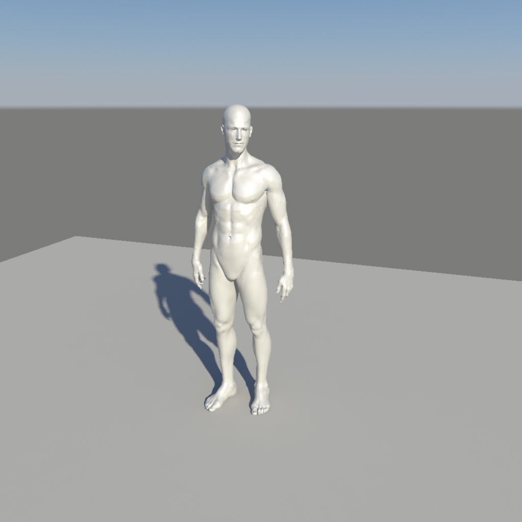nude male character 3d model ma mb obj 155369