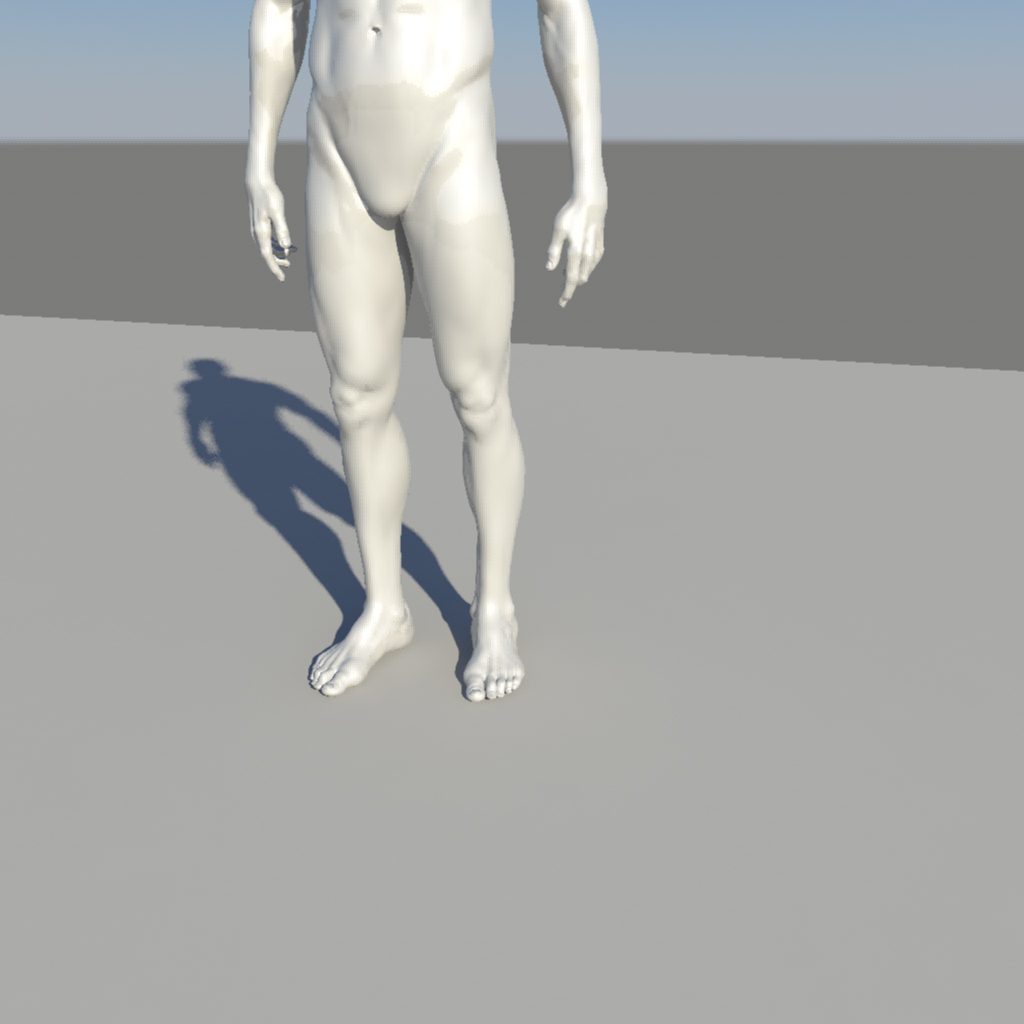 nude male character 3d model ma mb obj 155371