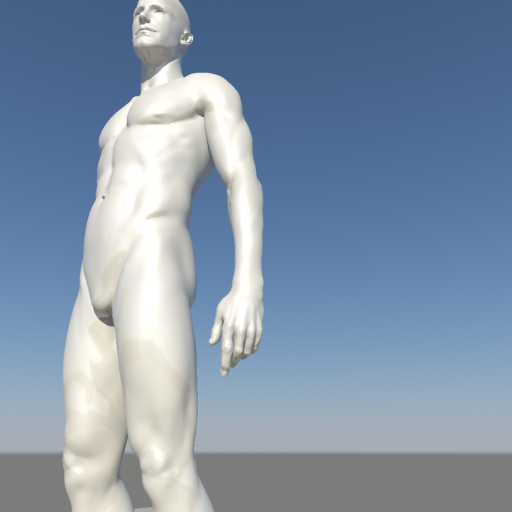 nude male character 3d model ma mb obj 155372