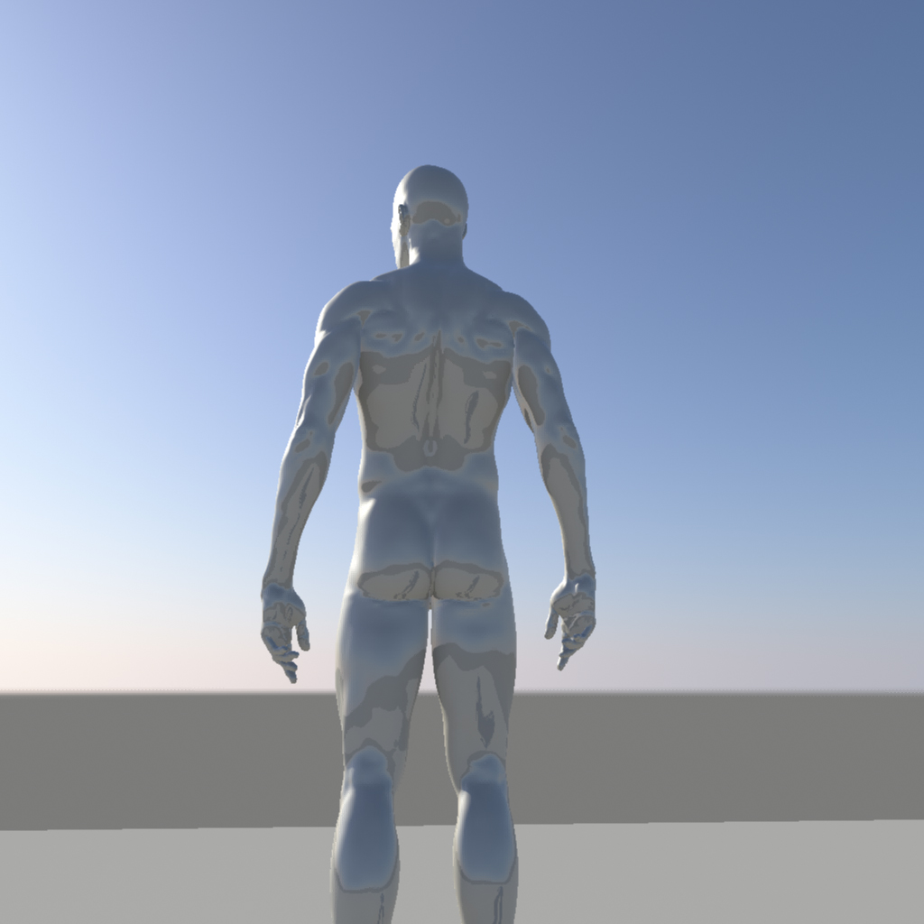 nude male character 3d model ma mb obj 155373
