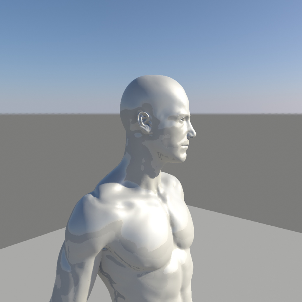 nude male character 3d model ma mb obj 155374